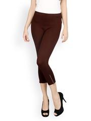 Sheen Women Brown Capri Leggings