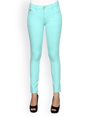 Sheen Women Light Blue Ankle-Length Treggings
