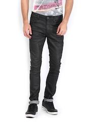 Sher Singh Men Black Indigo Dyed Jeans