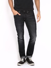 Sher Singh Men Black Slim Fit Jeans