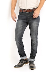 Sher Singh Men Charcoal Grey Indigo Dyed Jeans