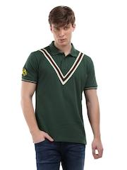 Sher Singh Men Green Classic Double V Polo T-Shirt