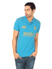 Sher Singh Men Mumbai Blue Polo T shirt