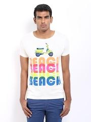 Sher Singh Men White Printed T-shirt