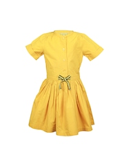 ShopperTree Girls Yellow Tailored Dress