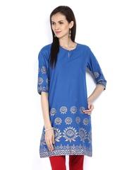 Shree Women Blue Printed Kurta