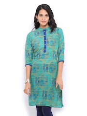 Shree Women Green Printed Kurta