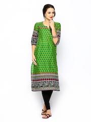 Shree Women Green Printed Kurta