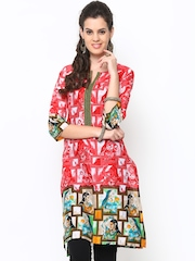 Shree Women Red Printed Kurta