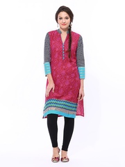 Shree Women Magenta Printed Kurta