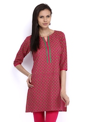 Shree Women Pink Printed Kurta
