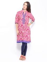 Shree Women Pink Printed Kurta