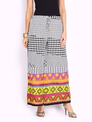 Shree Black & White Printed Palazzo Pants