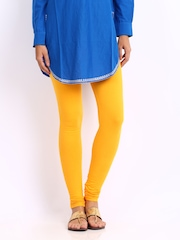 Shree Women Yellow Cotton Leggings