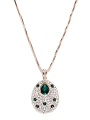 Sia Art Jewellery Gold-Toned & Green Pendant with Chain
