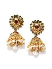 Sia Art Jewellery Gold-Toned Jhumka Earrings