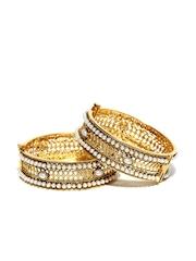 Sia Art Jewellery Set of 2 Gold-Toned Bangles