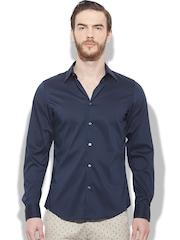 Sisley Men Navy Berlino Slim Fit Casual Shirt