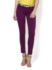 Sisley Women Purple Paris Super Skinny Fit Jeggings