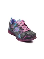 Skechers Girls Grey Glitzies Casual Shoes