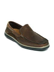 Skechers Men Coffee Brown Arcos Harlen Leather Loafers