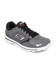 Skechers Men Charcoal Grey GO Walk 2-Flash Walking Shoes