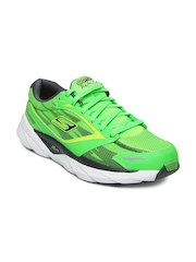 Skechers Men Neon Green Go Run Ride 3 - Night Owl Running Shoes