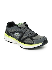 Skechers Men Grey & Black Agility-Ultimate Victory Sports Shoes