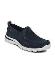 Skechers Men Navy Superior Pace Suede Casual Shoes