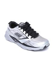 Skechers Men Silver-Toned Go Run Ride 3 Sports Shoes