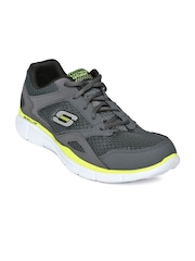 Skechers Men Grey Equalizer Leather Training Shoes