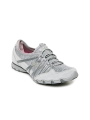 Skechers Women Grey Bikers Sole Attraction Casual Shoes