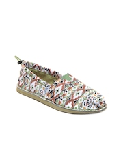 Skechers Women Green & Brown Printed Casual Shoes
