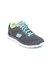 Skechers Women Grey Flex Appeal - First Glance Sports Shoes