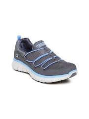 Skechers Women Grey Synergy Loving Life Walking Shoes