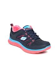 Skechers Women Navy Flex Appeal-Spring Fever Training Shoes