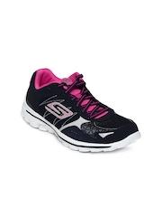 Skechers Women Navy Go Walk 2 - Flash Walking Shoes