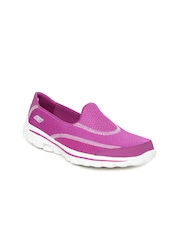 Skechers Women Pink Go Walk 2 Spark Sports Shoes