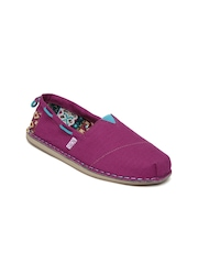Skechers Women Purple Bobs Chill Global Welfare Casual Shoes