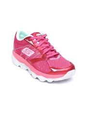 Skechers Women Pink Go Run Ultra Sports Shoes