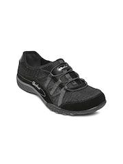 Skechers Women Black Breathe Easy Relaxation Suede Sports Shoes