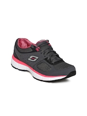 Skechers Women Grey Agility-Perfect Fit Running Shoes