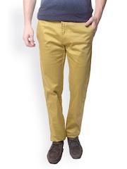 Skooikie Men Yellow Smart Fit Chino Trousers