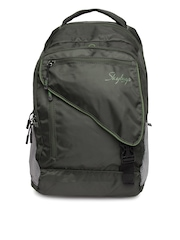 Skybags Unisex Green Octane 02 Backpack with Raincover