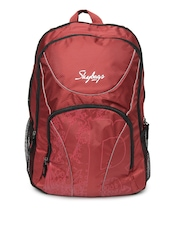 Skybags Unisex Red Beetle 01 Backpack with Raincover