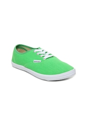 Slazenger Girls Green Pastella Canvas Shoes