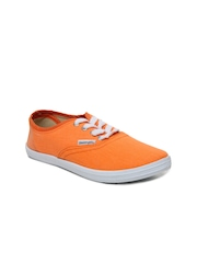Slazenger Girls Orange Pastella Canvas Shoes