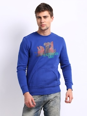 Slazenger Men Blue Printed Sweatshirt