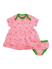 Snuggles Girls Pink Printed A-Line Dress