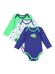 Snuggles Infant Unisex Pack of 3 Rompers
